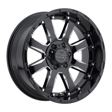 BLACK RHINO SIERRA 17x9.0 6/139.7 ET12 CB112.1 Gloss Black W/Milled Spokes for Trucks & SUV