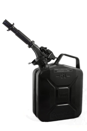 5L Wavian Leak-Proof Steel Fuel Can (1.3 Gallons) - Black | TreadWright
