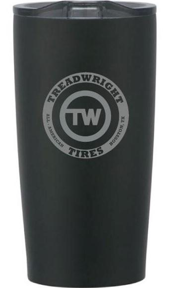 20 oz Black Tumbler Drinkware Treadwright