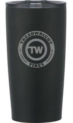 TreadWright Merch Stainless Steel Black Tumbler (20 oz) - Double Wall Vacuum Insulated