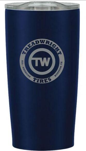 TreadWright Merch Stainless Steel Blue Tumbler (20 oz) - Double Wall Vacuum Insulated
