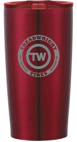 TreadWright Merch Stainless Steel Red Tumbler (20 oz) - Double Wall Vacuum Insulated