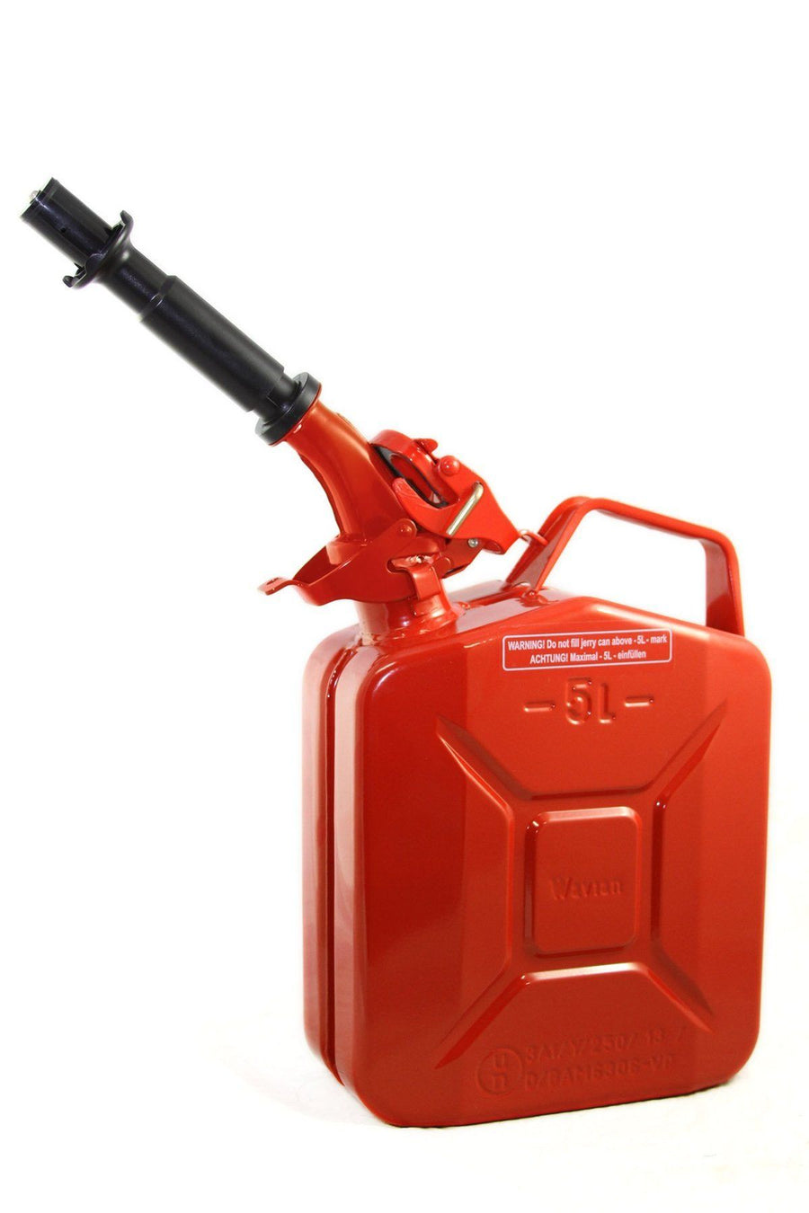 5L Wavian Leak-Proof Steel Fuel Can (1.3 Gallons) - Red | TreadWright