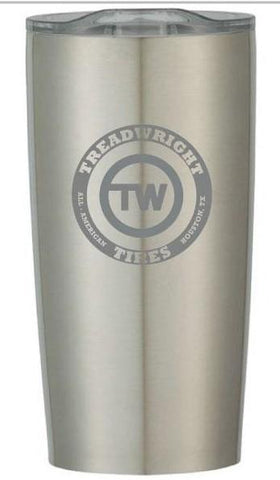 TreadWright Merch Stainless Steel Tumbler (20 oz) - Double Wall Vacuum Insulated