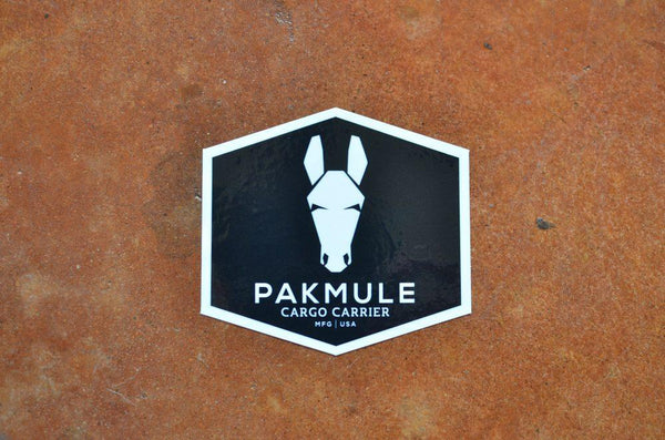 "Pakmule Original Window Sticker / Decal - Size 3"" by 4"" 