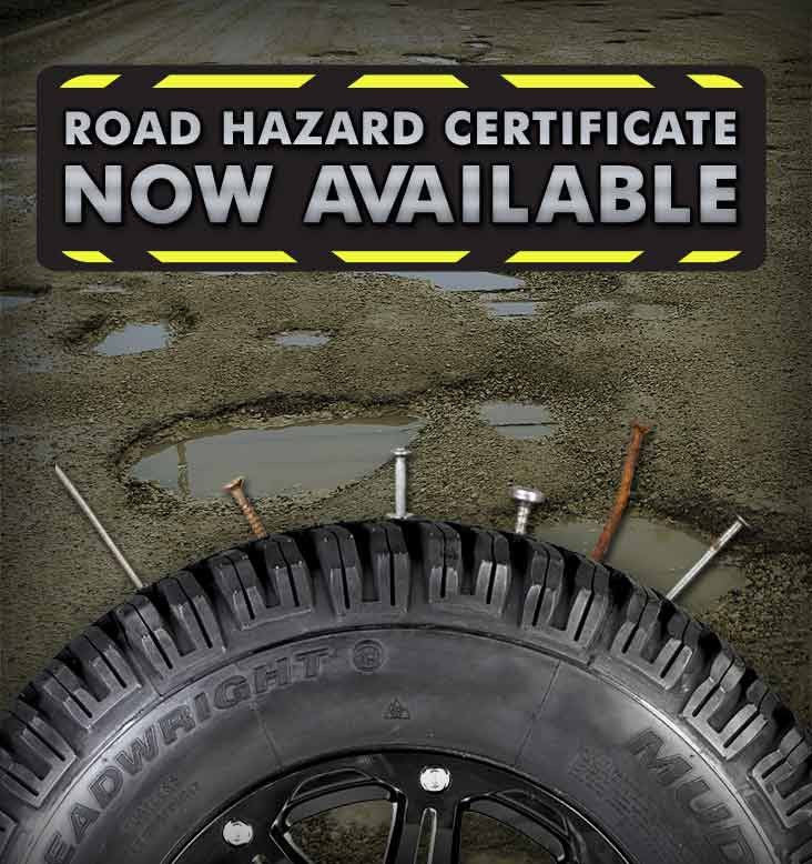 """No Hassle"" Road Hazard Warranty $12.49 Per Tire - Qty 2"