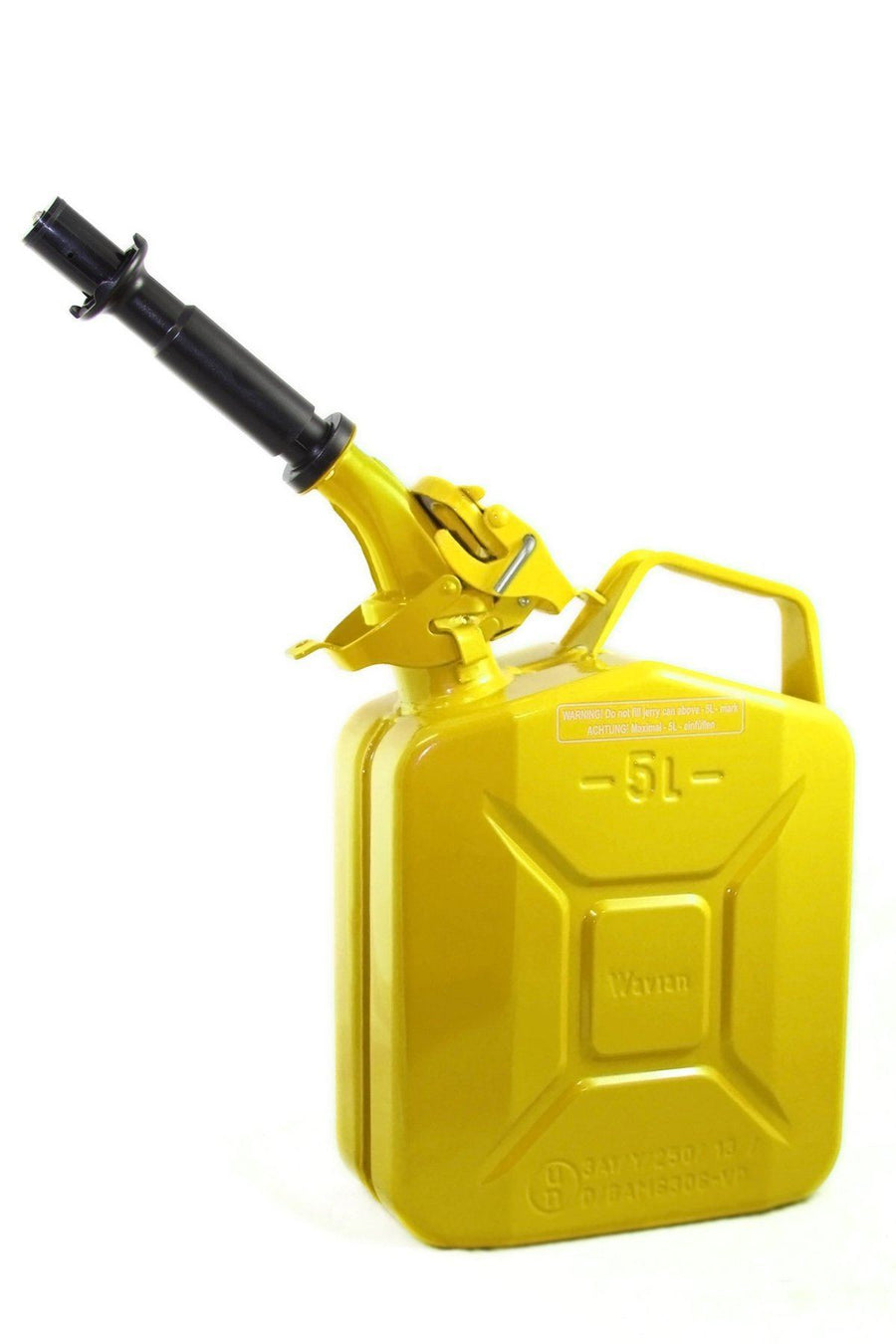 5L Wavian Leak-Proof Steel Fuel Can (1.3 Gallons) - Yellow | TreadWright