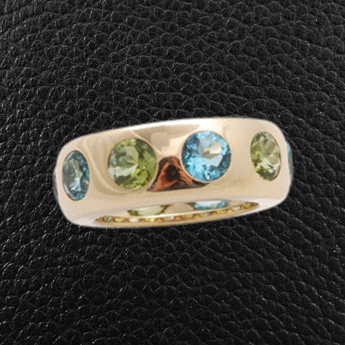 Peridot & Blue Topaz Ring
