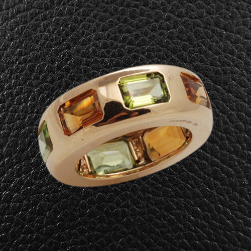 Peridot & Citrine Ring