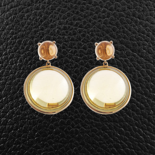 lemon wire sandy luminous lyst leong gallery single citrine jewelry earrings