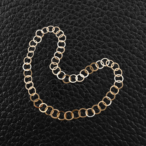 Polished Gold Round Link Necklace