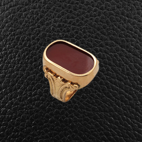 Carnelian Estate Ring
