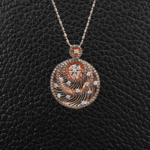 Brown & White Diamond Pendant