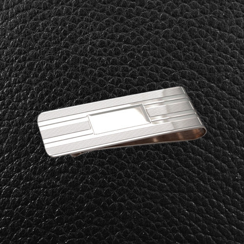 Sterling Silver Money Clip, Engravable