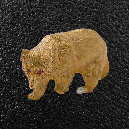 Gold Grizzly Bear Pin