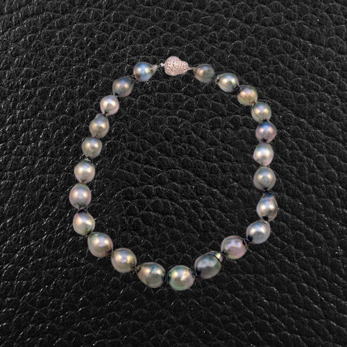 Baroque Pearl Strand with a Diamond Clasp