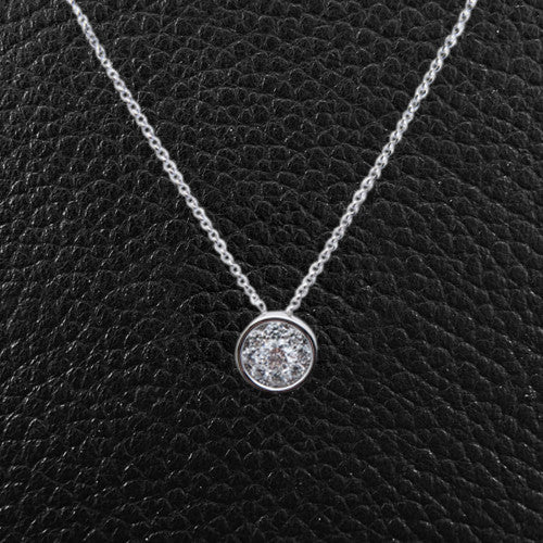 Multi-Diamond Round Pendant
