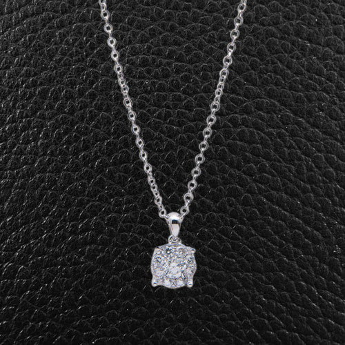 Multi-Diamond Pendant with Chain