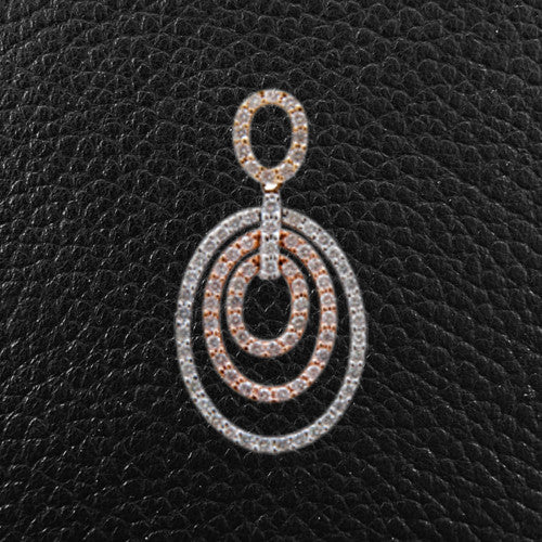 Triple Oval Design Diamond Pendant