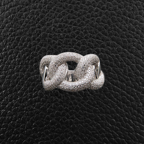 Interlocking Diamond Circles Ring