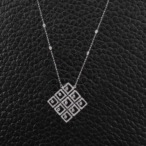 Square Design Diamond Pendant