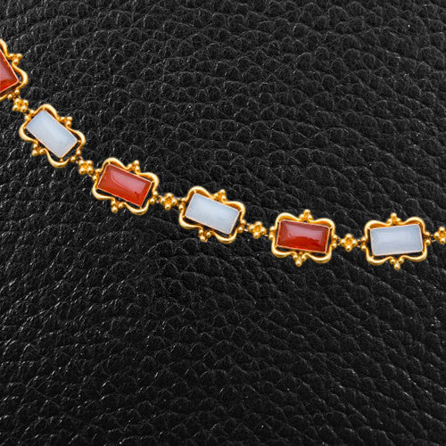 Agate & Gold Estate Necklace
