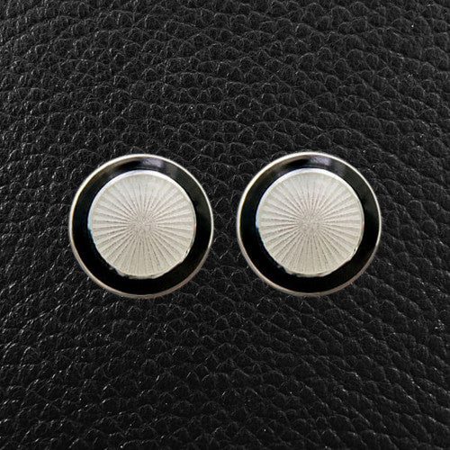 Black & White Sunburst Cufflinks