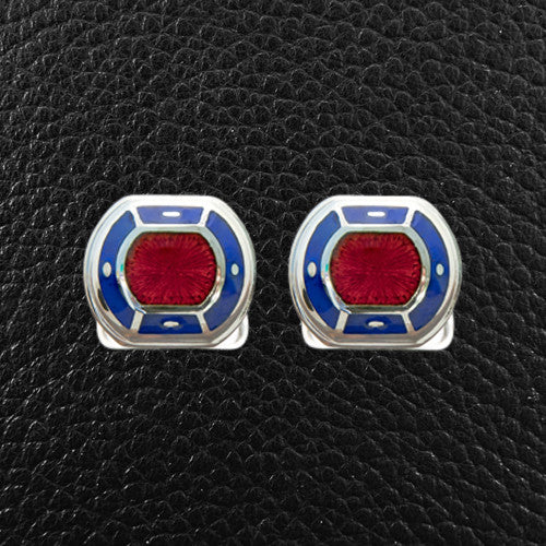 Blue & Red Cufflinks