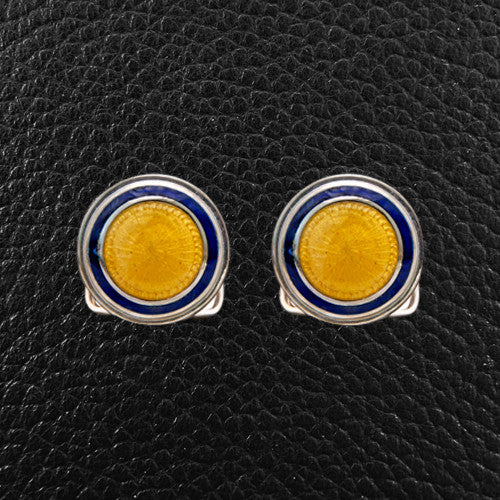 Blue & Gold Round Cufflinks