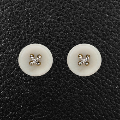 Mother of Pearl Button Cufflinks