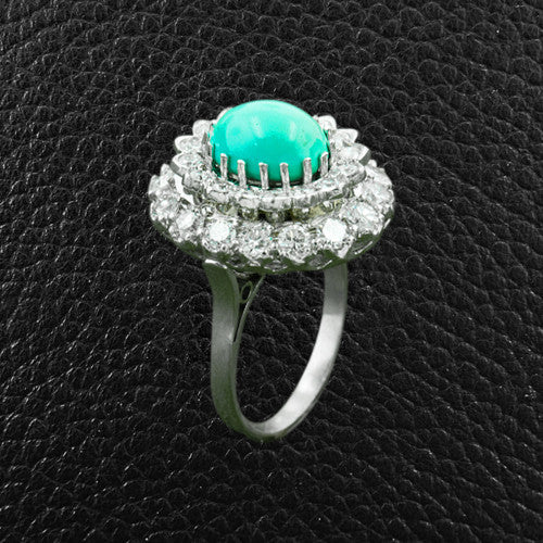 Turquoise & Diamond Estate Ring