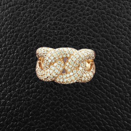 Rose Gold & Diamond Knot Ring