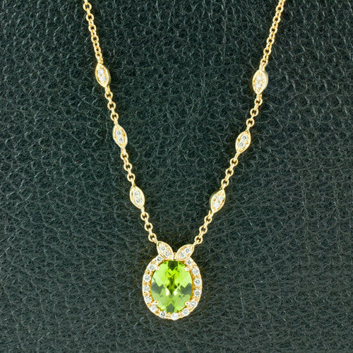 Peridot & Diamond Necklace