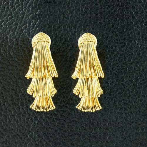 Three Tier Gold Estate Earrings