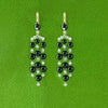Onyx & Diamond Dangle Estate Earrings