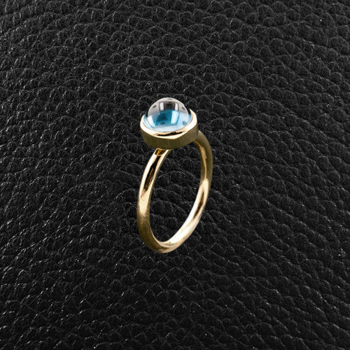 Cabochon Blue Topaz Ring