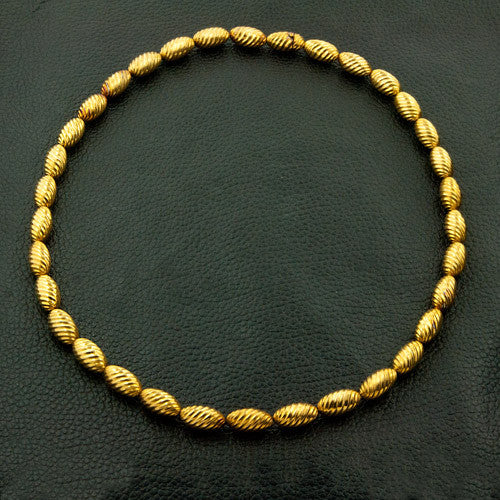 Yellow Gold Bead Estate Necklace