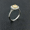 Radiant Yellow Diamond Ring