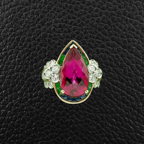 Pink Tourmaline Estate Ring