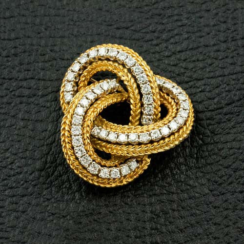 Diamond Estate Knot Pin