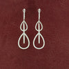 Diamond & Sapphire Dangle Teardrop Earrings