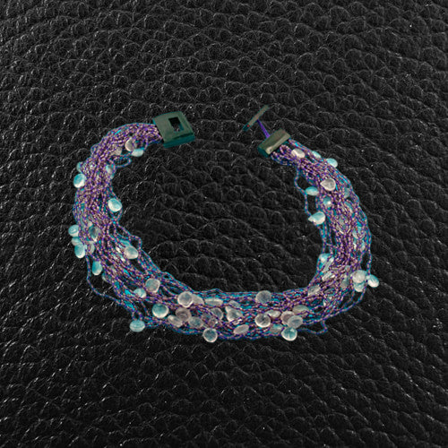 Amethyst & Pink Tourmaline Bead Necklace