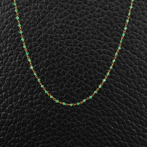 Emerald Bead Necklace