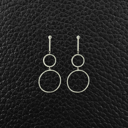 Diamond Circles Dangle Earrings