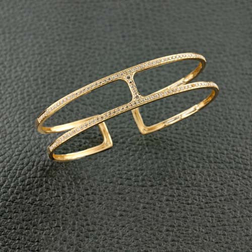 Gold & Diamond Bangle Bracelet