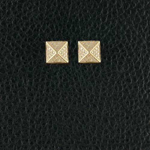 Diamond Pyramid Earrings