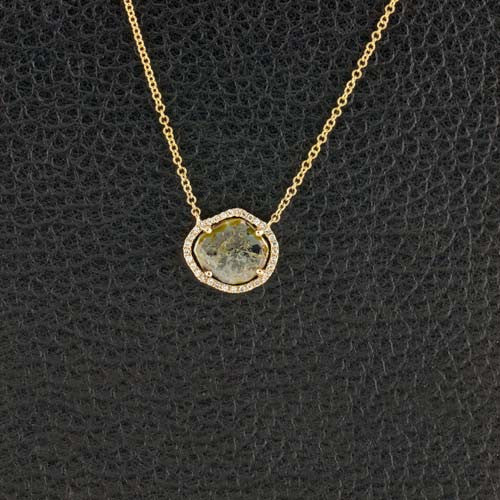 Diamond Slice Pendant