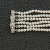 Six Strand Pearl & Diamond Choker Necklace