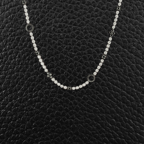Black & White Diamond Long Necklace