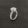 Solitaire Asscher Engagement Ring